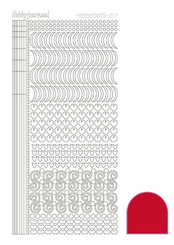Hobbydots sticker - Adhesive Red