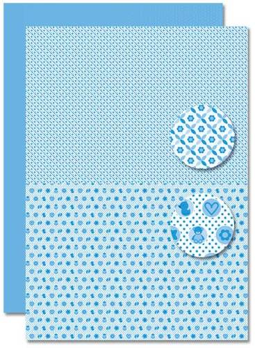 Decoupage sheet - Doublesided - Lightblue - Babyboy-miscellany
