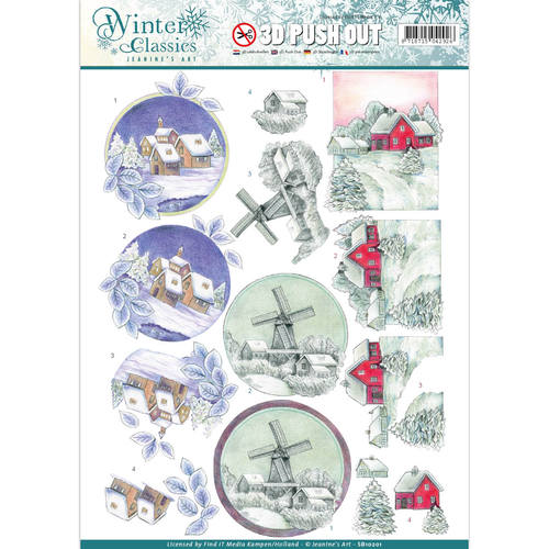 Jeanine`s Art - Winter Classics - Christmas landscapes - 3D Push Out