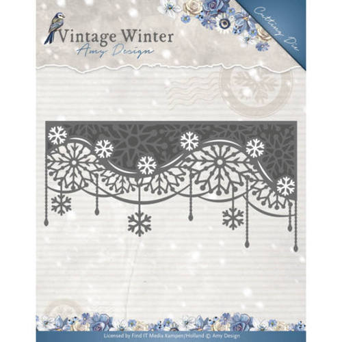 Die - Amy Design - Vintage Winter - Snowflake Swirl Edge