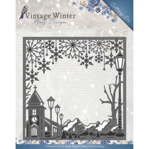 Die - Amy Design - Vintage Winter - Village Frame Square
