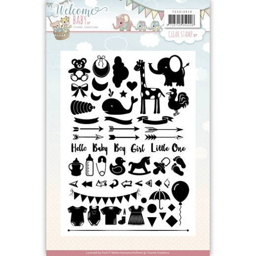 Clearstamp - Yvonne Creations - Welcome Baby