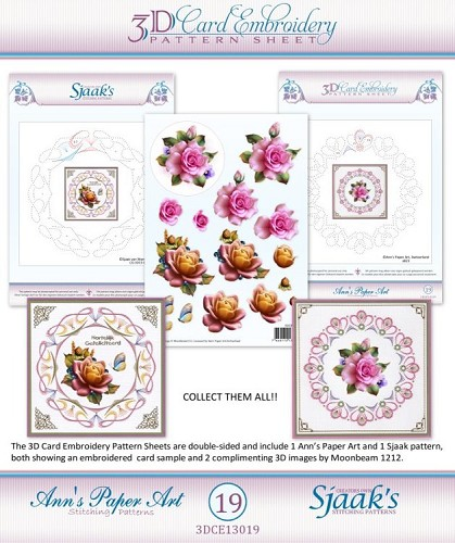 3D knipvel - Ann`s Paperart - 3D Card Embroidery Pattern Sheet #19 with Ann & Sjaak