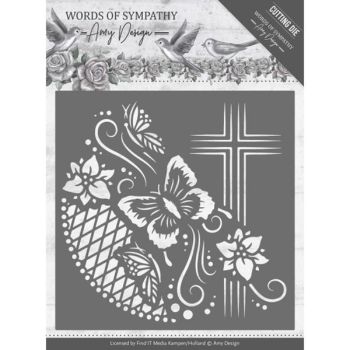Dies - Amy Design - Words of Sympathy - Cross Frame
