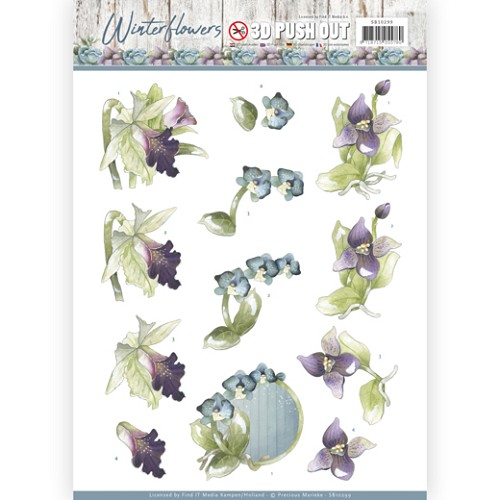 3D Pushout - Precious Marieke - Winter Flowers - Orchids