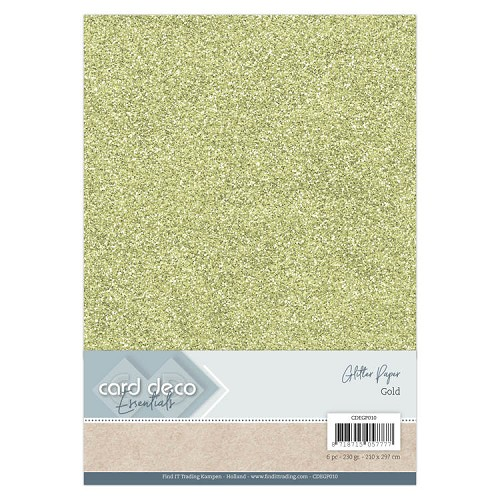Card Deco Essentials Glitter Paper Gold