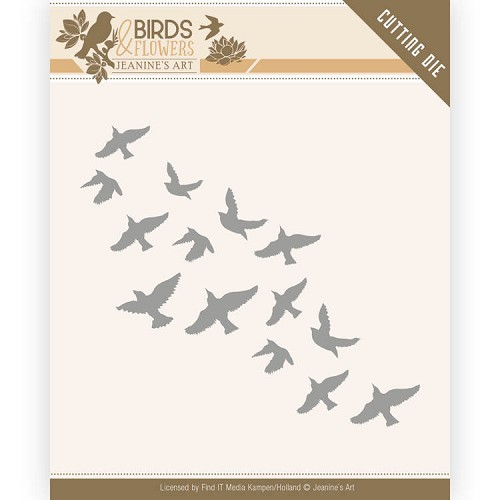Dies - Jeanine`s Art - Birds and Flowers - Flock of Birds
