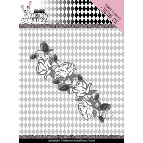 Dies - Yvonne Creations- Pretty Pierrot 2 - Rose Border