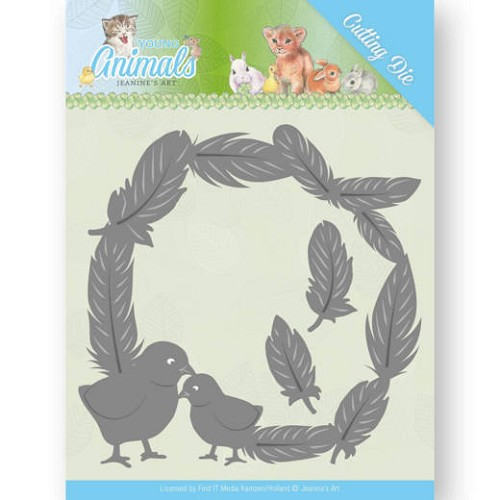 Dies - Jeanine`s Art - Young Animals - Feathers all Around