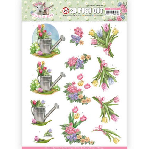 3D Pushout - Amy Design - Spring is Here - Tulips
