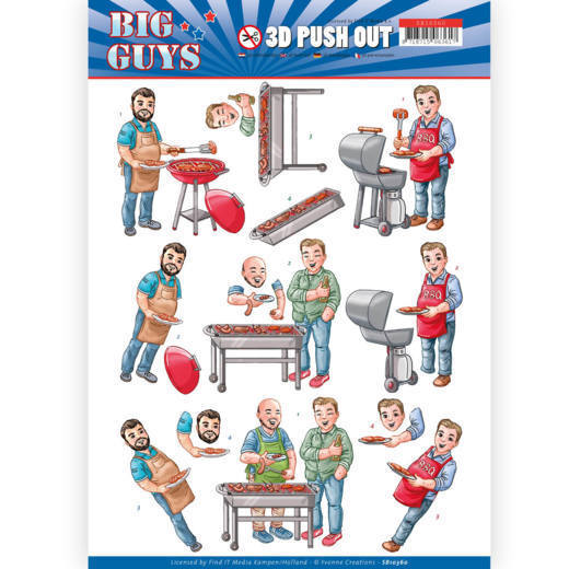 3D pushout - Yvonne Creations- Big Guys - Backyard BBQ