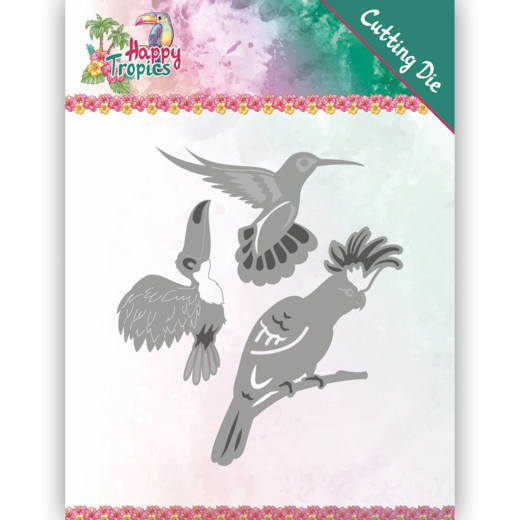Dies - Yvonne Creations - Happy Tropics - Exotic Birds