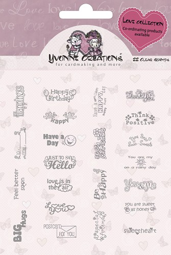 Yvonne Creations - Stamps - Love - Text