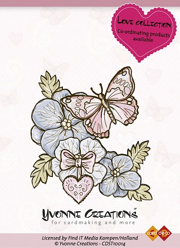 Yvonne Creations - Stamps - Love - Butterfly