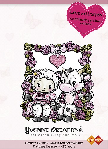 Yvonne Creations - Stamps - Love - Happy Couple